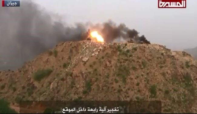 Yemeni Army Destroys Saudi Watch Tower in Jizan