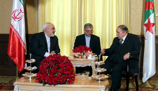 Iran's FM, Algeria's President Discuss Restoring Peace in Yemen, Syria