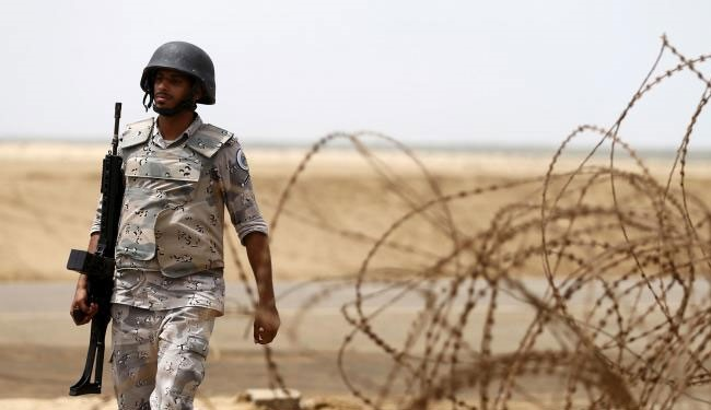 (FILE) Saudi soldier at the boeder of yemen