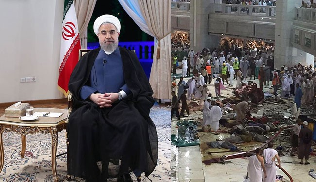 Islamic Ummah Saddened by Mecca Crane Crash: President Rouhani