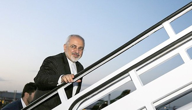 Iran's FM Zarif Leaves Tehran for New York