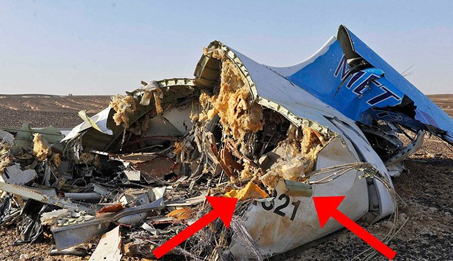 Aviation sources claim the tail section of the aircraft shows evidence of 'the fuselage skin peeling outwards possibly indicative of a force acting outwards from within' - possibly a bomb - which could be linked to the earliest moments of the aircraft's disaster sequence.
