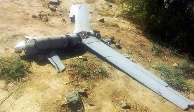 (File) Saudi Spy Drone Downed by Yemeni Forces in Sana'a