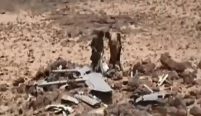 VIDEO: Yemeni Fighters Shoot down Saudi Arabia Drone in Ta'izz