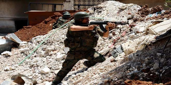 Syrian Army kills and injures ISIS and Al-Nusra Terrorists, Destroys their Weapons and Vehicles