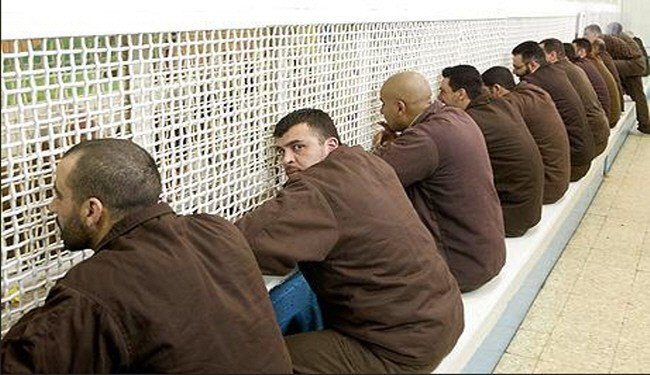 Palestinian prisoners in Zionist jail (file photo)