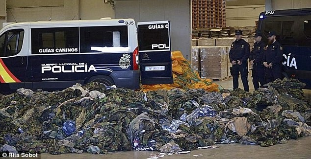 VIDEO& PICS: 20,000 ISIS Uniforms seized by Spanish Police
