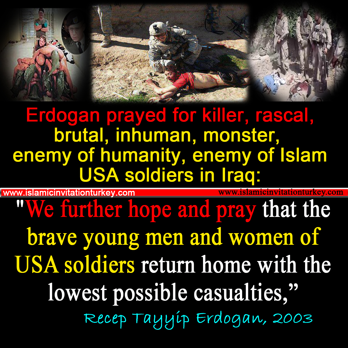 erdogan prayed usa soldiers