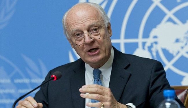 UN Special Envoy Staffan de Mistura to Visit Iran over Syria Peace Talks