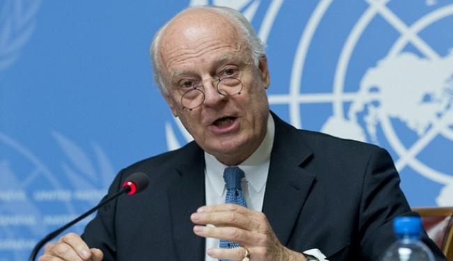 UN Special Envoy Staffan de Mistura to Visit Iran over Syria Peace Talks