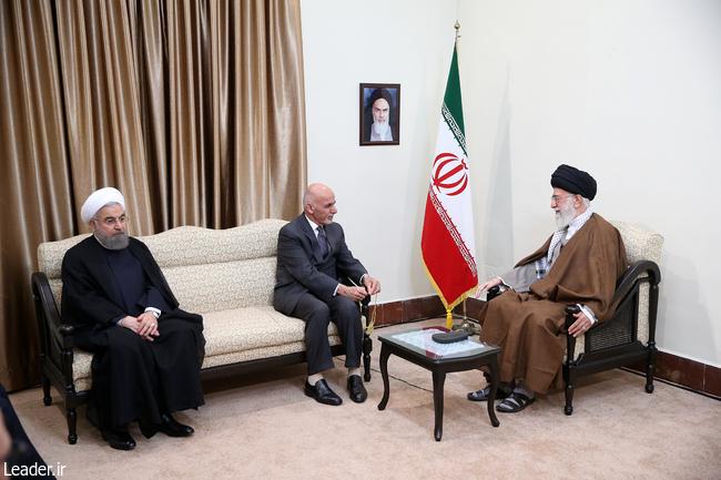 دیدار رئیسجمهوری افغانستان و هیات همراه