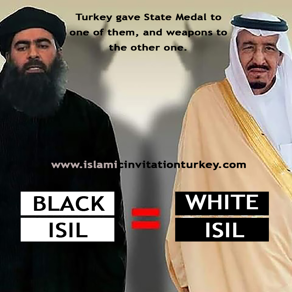 white and black ISIL