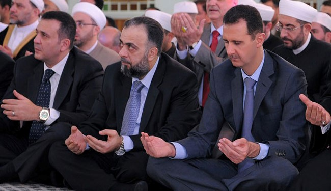 Syria's Bashar Assad joins Eid al-Fitr prayers in City of Homs (FILE PHOTO)