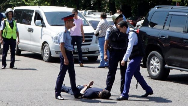 One attacker, 27, has been captured but an accomplice is still at large, the interior ministry said in a statement.