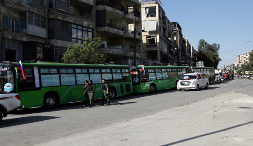 People wanting to leave Aleppo eastern neighborhoods blocked by terrorists for 3rd day (PHOTO BY SANA)