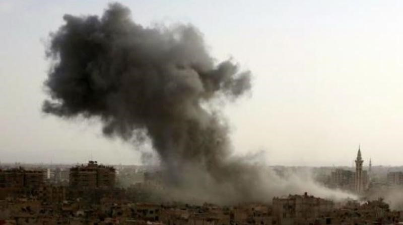 Toxic Sulphur Cloud from Plant Torched By ISIS