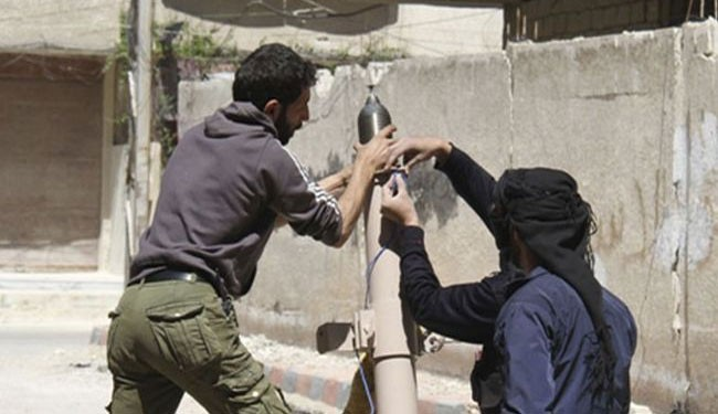 Foreign-backed insurgents in Syria firing mortar shells  (file photo)