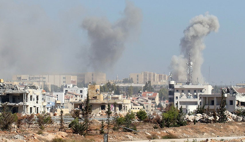 VIDEO: Plumes of Smoke over Central Aleppo