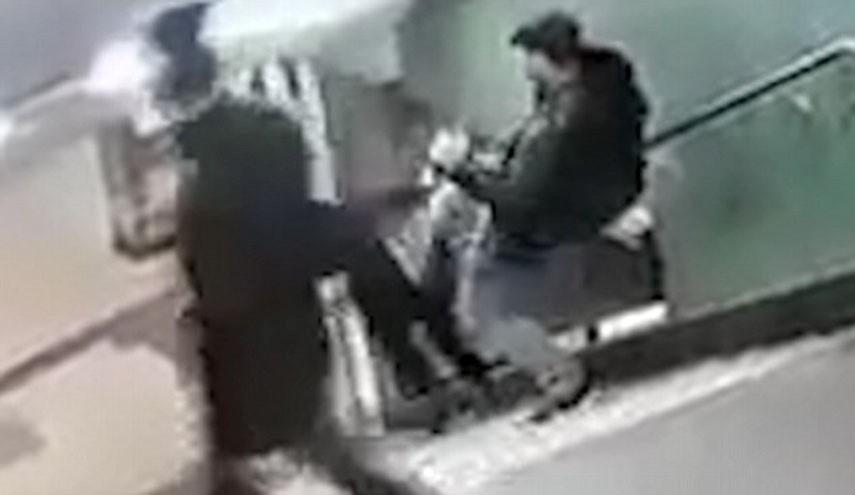 SHOCK VIDEO: Man KICKS GERMAN GIRL DOWN STAIRS IN BERLIN SUBWAY