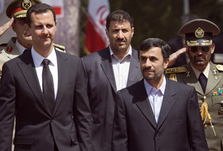 Photo of Syria president in Tehran on official visit