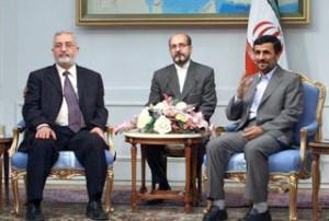 Iranian-President-Mahmoud-Ahmadinejad-Iraqi-Parliament-Speaker-Ayad-al-Samarai
