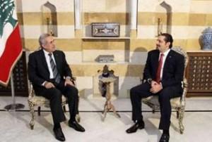 Lebanese-President-Michel-Suleiman-Saad-Hariri