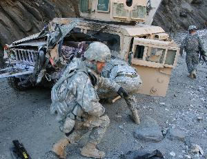 Photo of US Occupation Soldier Killed by IED in Afghanistan
