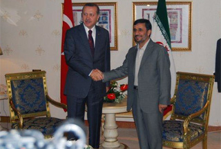 Photo of Ahmadinejad meets Gul and Erdogan in Istanbul