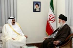 Imam-Khamenei-and-Qatari-Emir