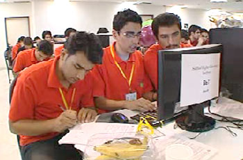 Photo of IRI students compete in software contest