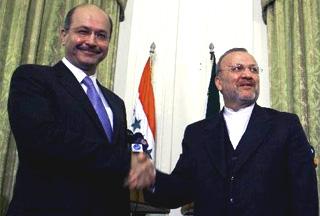 Photo of Iraq's Kurdish premier in Tehran