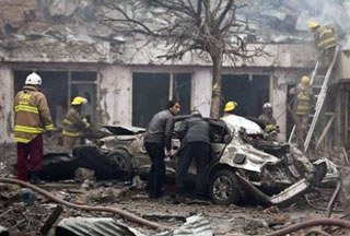 Photo of Serial blasts kill 17, injure 30 in central Kabul