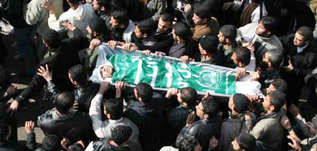 Photo of E.Q.B mourn Ahmad al-Hajeen from Gaza