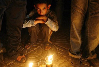 Photo of Gaza in blackout as Israeli blockade continues