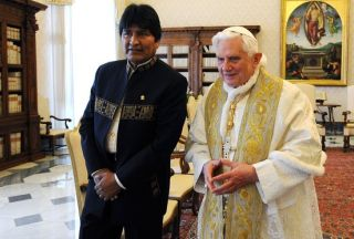Photo of Bolivian president meets the Pope