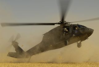 Photo of US chopper crashes in S Iraq