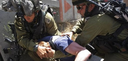 Photo of Injured soldier in violent clashes in Jerusalem