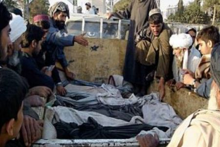 Photo of Afghans protest US killing of civilians