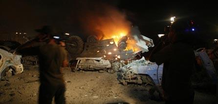 Photo of Israeli airforces strike Gaza heavily