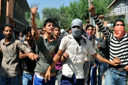 Photo of Protesters rally in Pakistani Kashmir