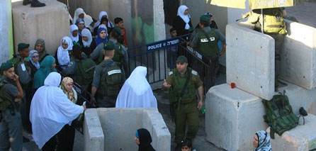 Photo of Israeli soldiers turn J'lem into military posts