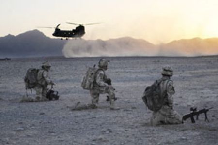 Photo of NATO chopper crashes in Afghanistan