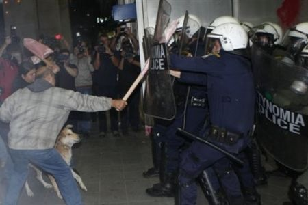 Photo of Austerity anger sparks clash in Greece
