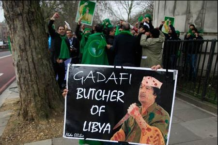 Photo of Protests, gunfire hit Gaddafi stronghold