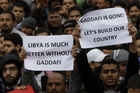 Photo of Revolutionists Reject Gaddafi's Proposal to Transfer Power to His Son