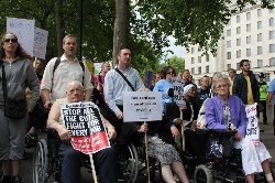 Photo of Disabled march through London to protest against benefit cuts