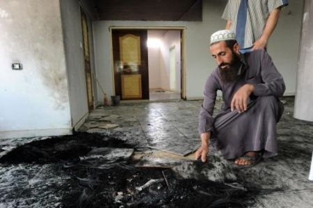 Photo of Video- Zionist Extremist Israeli settlers attempt to burn a mosque in Qusra