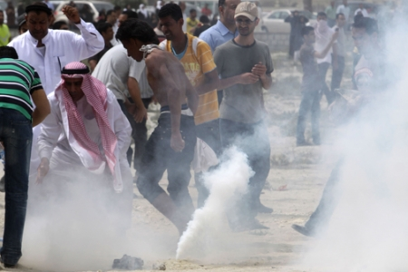 Photo of US supplied toxic tear-gas to Puppet Bahrain Regime