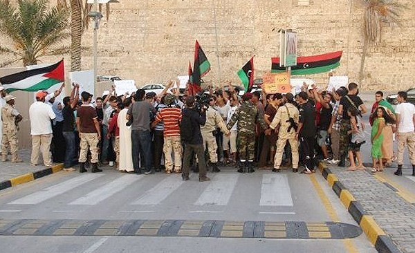 Photo of (Photo) Libyans stage anti-zionist israeli demo in Tripoli