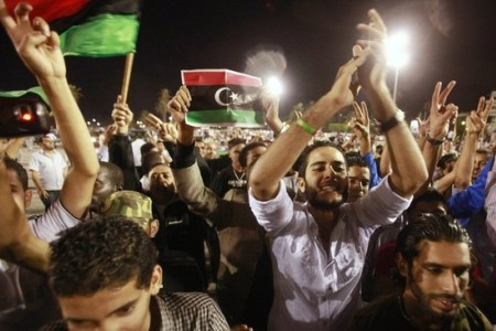 Photo of Libyans celebrate Gaddafi son's arrest